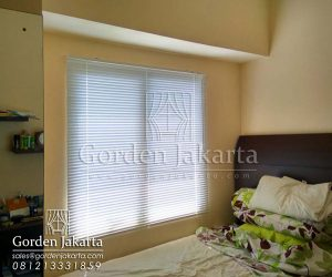harga venetian blinds deluxe slatting Sp.011 putih Q3081