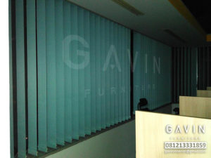Vertical Blinds Warna Biru