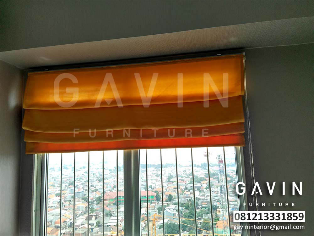 jual roman shades warna orange