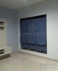 roman shade blackout by blinds jakarta