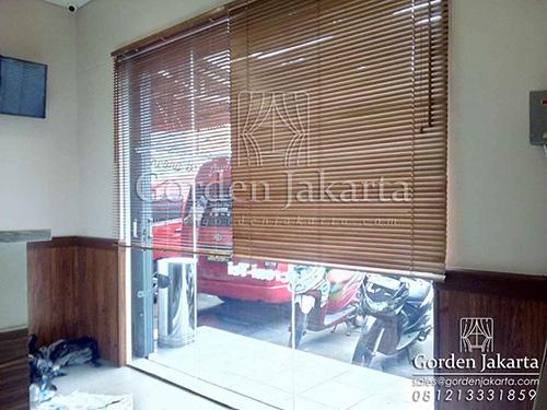 jual model wooden blinds custom