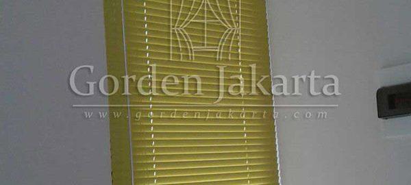 jual venetian blinds deluxe slatting warna kuning di BSD Q3284