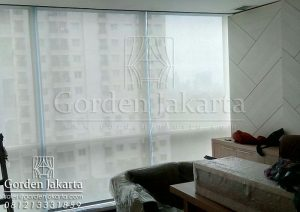 Roller Blinds Solar Screen Onna Warna Putih di Tebet Q3378