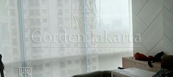 Roller Blinds Solar Screen Onna Warna Putih di Tebet Q3378