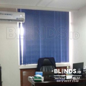 Vertical Blind Blackout Onna Blue Series 3105 Project Di Menteng Q3587