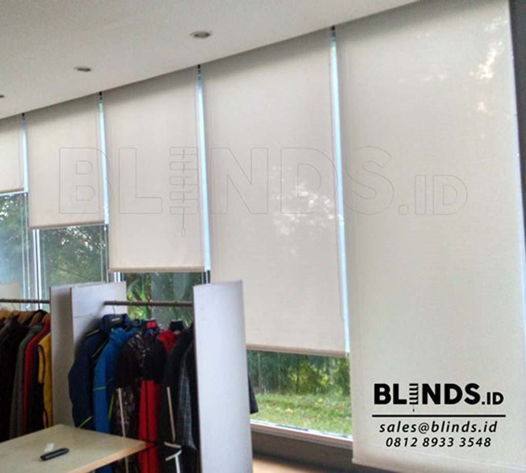 Jual Roller Blinds Solar Screen Sp 2.600 - 2 White+white Q3576