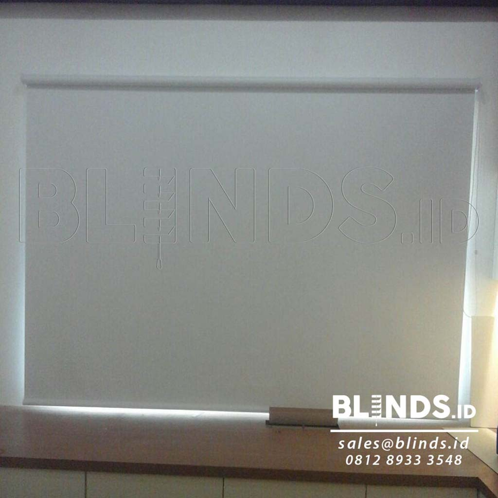 Roller Blinds Blackout Superior Sp. 6045-10 White Project Kembangan Q3618