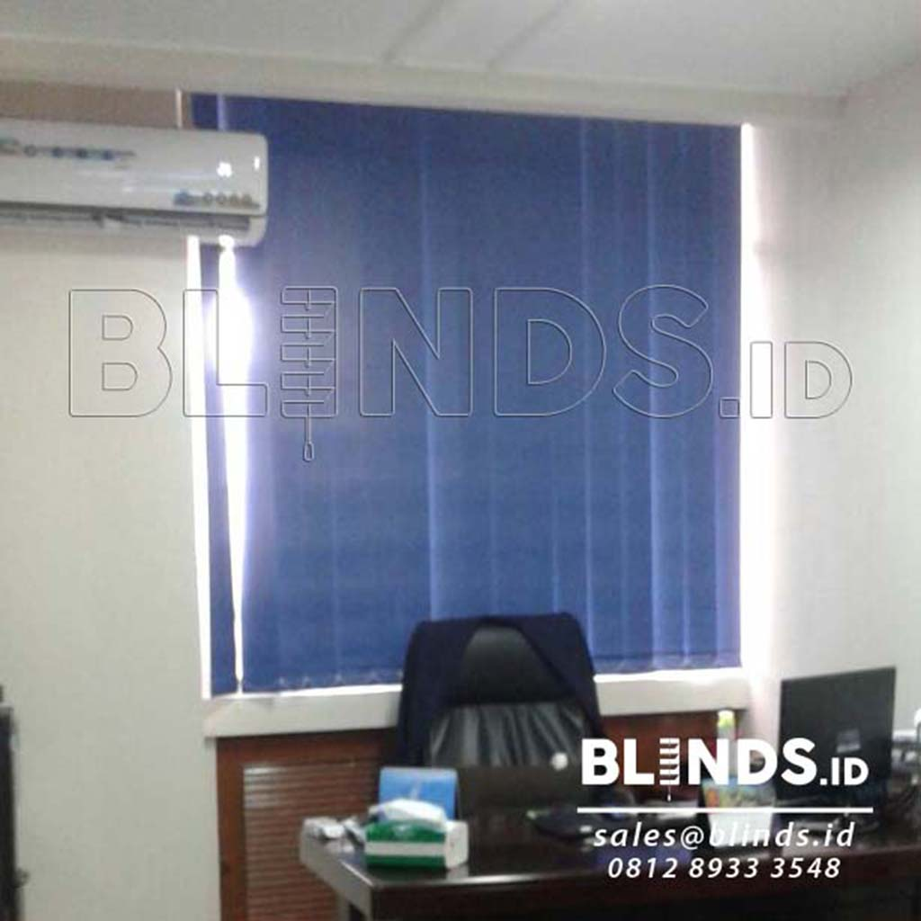 Vertical Blinds Blackout Onna Blue Series 3105 Di Menteng Q3587