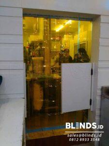strip curtain PVC yellow custom di Depok by Blinds Jakarta Q3686