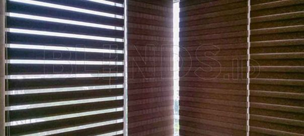 contoh rainbow blinds dimout 75mm Series RW 144 Q3835