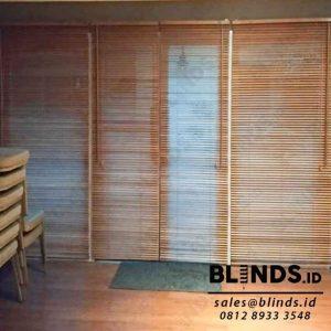 wooden blinds curtains slat 27mm tropical hard wood Sp.03 WB light natural di Pejaten id3988