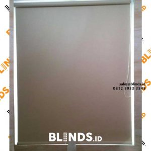roller blinds blackout superior cream sharp point project di pasar minggu id4153