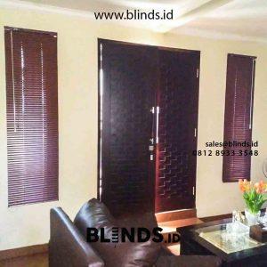 gambar venetian blinds deluxe slatting warna coklat di Petukangan id4306
