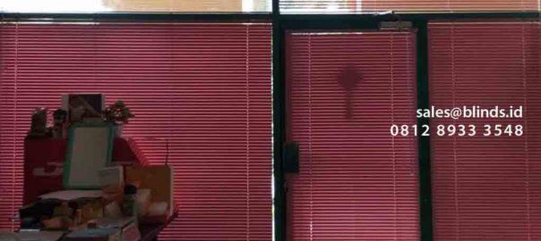 jual tirai venetian blinds pink bahan deluxe slatting di Mangga Dua id4212