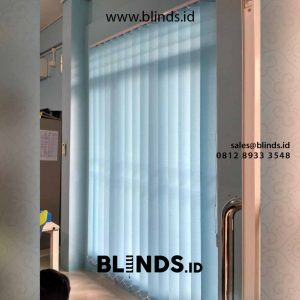 vertical blinds dimout blue sharp point di Bintaro id4381