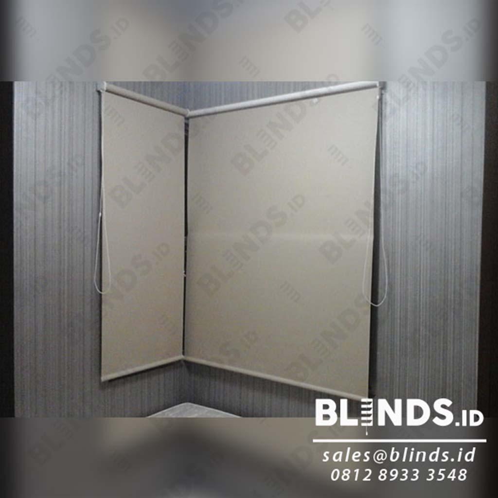 contoh Roller Blinds Blackout Super Quality untuk jendela kecil
