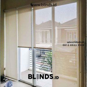 contoh tirai jendela menggulung solar screen by Blinds Jakarta id4478