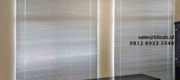 contoh venetian blinds deluxe slatting 25mm di Green Lake id4751