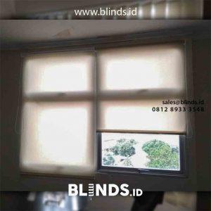 Pasang Tirai Roller Blinds Superior Dimout Beige Di RSCM Dept Bedah Saraf Jakarta Pusat id5063