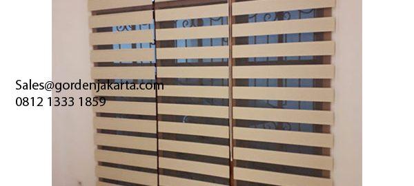 Contoh Tirai Zebra Blinds Warna Khaki Di Sasak Kebon Jeruk id5508