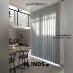 jual tira kantor vertical blinds blackout drak grey