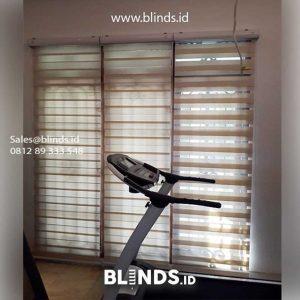 Contoh tirai zebra blinds warna coklat ID5508