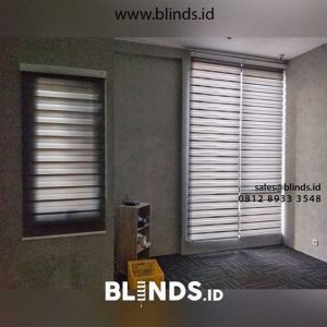 Zebra blinds dimout warna cream