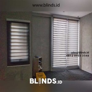 Jual Tirai Zebra blind Z88-12 Dark grey
