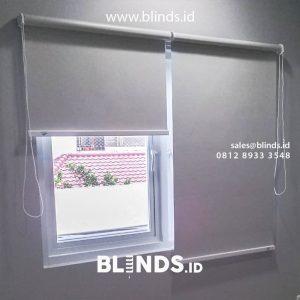 Roller Blinds Blackout Sp 200-4 Grey Perumahan Taman Alfa Indah Joglo Kembangan Jakarta id5254