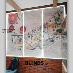 Tirai Jendela Roller Blinds Printing Untuk Ruangan Semakin Menarik id6051