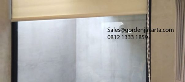Roller Blinds Solar Screen Sp 2600-1 Beige+white Puri Botanical Residence Kembangan Jakarta id5661