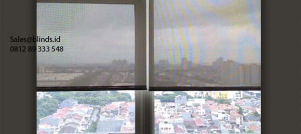 Roller Blinds Solar Screen Sp 4000-3 White + Grey The Kensington Royal Suites Kelapa Gading Id6095
