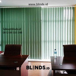 Vertical Blinds Blackout Sp 6045-4 Green 18 Office Park TB Simatupang Pasar Minggu Id5990