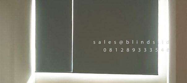 Roller Blinds Blackout Sp 6045-1 Blue Rainbow Springs CondoVillas Summarecon Serpong Pagedangan ID6560