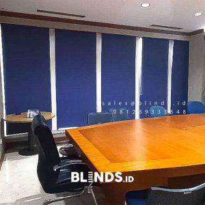 Roller Blinds Murah Dimout Sp 505-4 Dark Blue Menara Kadin Kuningan Setiabudi Jakarta ID5052