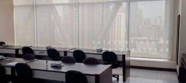 Roller Blinds Solar Screen Sp 4000-1 Beige Equity Tower Kebayoran Baru Jakarta ID4899