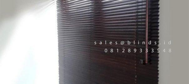 Jual Wooden Blinds Tropical HardWood 11 WB Mahogany Premier Estate 2 Pondok Melati Bekasi Id5103