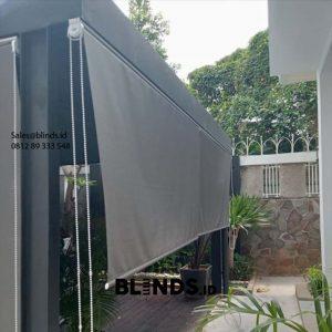 Roller Blinds Outdoor Sp 4716 Grey Pasang Kemang Utara Mampang Prapatan Jakarta Id6115