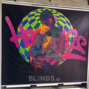 Roller Blinds Custom Print Kolaborasi Nevertoolavish & Blinds.id Wajib Banget Kamu Punya!