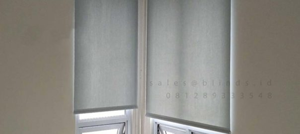 Roller Blinds Semi Blackout Sp 505-5 Silver Grey Cluster Rossini Summarecon Serpong Pagedangan Id6168